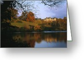 Autumn Scenes Greeting Cards - The Biltmore Estate Is Reflected Greeting Card by Melissa Farlow