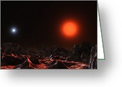 Red Dwarfs Greeting Cards - The Binary Star System Alcor Greeting Card by Andrew Taylor