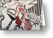 Bright Drawings Greeting Cards - The Bird of Pestilence Greeting Card by Michael Kulick