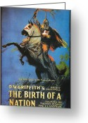 Racism Greeting Cards - The Birth of a Nation Greeting Card by Nomad Art And  Design