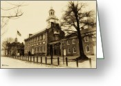 Independence Hall Greeting Cards - The Birthplace of Freedom Greeting Card by Bill Cannon
