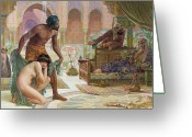 Orientalist Greeting Cards - The Bitter Draught of Slavery Greeting Card by Ernest Normand