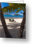 Tropical Island Photo Greeting Cards - The Bitter End Greeting Card by Adam Romanowicz