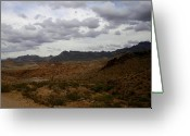 Oatman Greeting Cards - The Black Mountains Arizona Greeting Card by Christopher Kirby