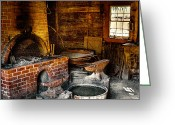 Tacoma Greeting Cards - The Blacksmith Shop at Fort Nisqually Greeting Card by David Patterson