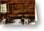 Trading Greeting Cards - The Blacksmith Shop Greeting Card by David Patterson