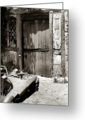 Door Sculpture Greeting Cards - The Blacksmiths Door Greeting Card by Robert Lacy