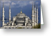 Minarets Greeting Cards - The Blue Mosque in Istanbul Greeting Card by Michele Burgess