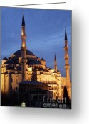 Byzantine Greeting Cards - The Blue Mosque Istanbul Greeting Card by Steve Outram