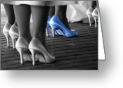 Bridesmaid Greeting Cards - The Blue Shoes Greeting Card by Emily Stauring