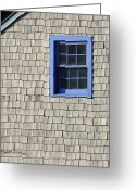 Window Panes Greeting Cards - The Blue Window Greeting Card by Michelle Wiarda