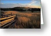Split Rail Fence Greeting Cards - The Bluffs at Doughton Park Blue Ridge Parkway Greeting Card by John Harmon