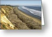 Oceans And Seas Greeting Cards - The Bluffs Of Ellwood Beach At Coal Oil Greeting Card by Rich Reid