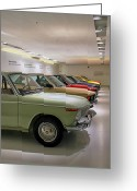 Bmw Classic Car Greeting Cards - The BMW Line Up Greeting Card by Lauri Novak