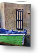 Fishing Boat Greeting Cards - The Boat Greeting Card by Karen Fleschler