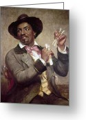 Player Photo Greeting Cards - The Bone Player, 1856 Greeting Card by Granger