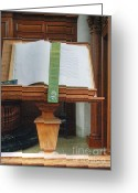 Westminster College Greeting Cards - The Book of James Greeting Card by David Bearden