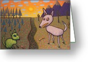 Desert Greeting Cards - The Border Greeting Card by James W Johnson