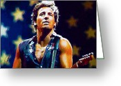 Rock N Roll Greeting Cards - The Boss Greeting Card by John Travisano