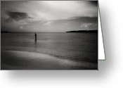 Oceano Greeting Cards - The boy and the sea. Greeting Card by Mauricio Jimenez
