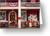 Grafton County Greeting Cards - The Brick Store Greeting Card by Susan Cole Kelly