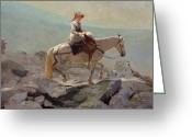 Trek Greeting Cards - The Bridal Path Greeting Card by Winslow Homer