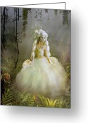 Ferns Greeting Cards - The Bride Greeting Card by Karen Koski