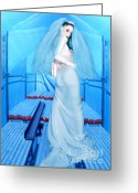 Survivor Art Greeting Cards - The Bride of Innocence - Self Portrait Greeting Card by Jaeda DeWalt