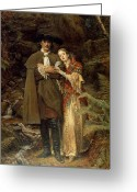 Valentine Greeting Cards - The Bride of Lammermoor Greeting Card by Sir John Everett Millais