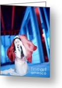 Survivor Art Greeting Cards - The Bride of Pain - Self Portrait Greeting Card by Jaeda DeWalt