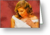 Women Greeting Cards - The Bride to Be Greeting Card by Jeff Kolker