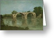 Courbet Greeting Cards - The Bridge at Ambrussum Greeting Card by Gustave Courbet