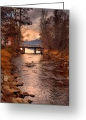 Okanagan Greeting Cards - The Bridge by the Lake Greeting Card by Tara Turner
