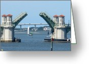 Florida Bridge Mixed Media Greeting Cards - The Bridge of Lions is Open Greeting Card by Warren Clark