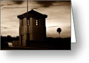 Florida Bridge Digital Art Greeting Cards - The Bridge Tenders Box Circa1926 Greeting Card by David Lee Thompson