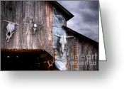 Barn Images Greeting Cards - The broad side of a... Greeting Card by Pixel Perfect by Michael Moore