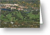 "\""colorado Resort\\\"" Greeting Cards - The Broadmoor Greeting Card by Ernie Echols"
