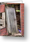Recession Greeting Cards - The Broken Home Greeting Card by JC Findley