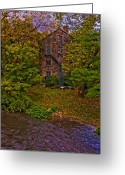 Mill Stone Greeting Cards - The Bronx River Stone Mill Greeting Card by Chris Lord