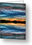 Okanagan Greeting Cards - The Brush Strokes of Evening Greeting Card by Tara Turner