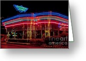 Convention Photography Atlanta Greeting Cards - The Buckhead Diner Atlanta Greeting Card by Corky Willis Atlanta Photography