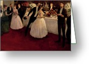 Ball Gown Painting Greeting Cards - The Buffet Greeting Card by Jean Louis Forain