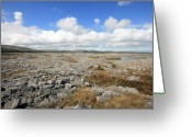 Barren Limestone Greeting Cards - The Burren landscape Greeting Card by John Quinn