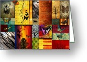 Red Fall Colors Greeting Cards - The Butterfly effect Greeting Card by Ramneek Narang