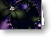 Mandelbrot Greeting Cards - The Butterfly Effect . Square Greeting Card by Wingsdomain Art and Photography