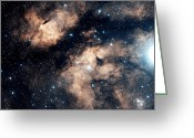 Interstellar Clouds Photo Greeting Cards - The Butterfly Nebula Greeting Card by Charles Shahar