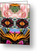 Prayer Warrior Greeting Cards - The Butterfly Skull Greeting Card by Rick Wolfryd