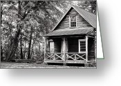 Autumn In The Country Photo Greeting Cards - The Cabin Greeting Card by John Rizzuto