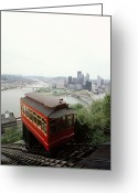 Skylines Photo Greeting Cards - The Cable Car To Mount Washington Greeting Card by Lynn Johnson