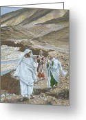 Jesus Painting Greeting Cards - The Calling of St. Andrew and St. John Greeting Card by Tissot